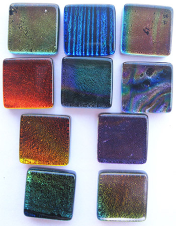 dichroic murano glass pendants