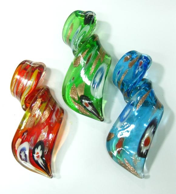 wholesale murano millefiori glass pendants